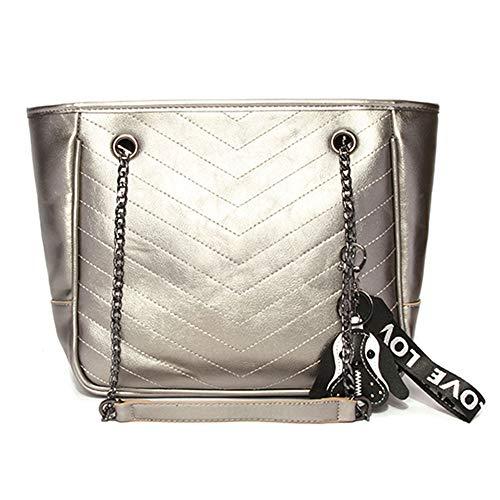 per a Borsa una borsa donna capacit grande in multipla spalla tasca tesite pelle 5qq1Af