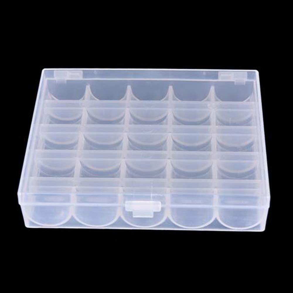LNKA Bobbin Box//2 Box Machine Bobbin Organizer Plastic Case for Brother Janome Singer Sewing Machine Holder Container Box
