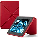 "PC Hardware : Amazon Kindle Fire HD Standing Leather Origami Case (will only fit Kindle Fire HD 7""), Red"