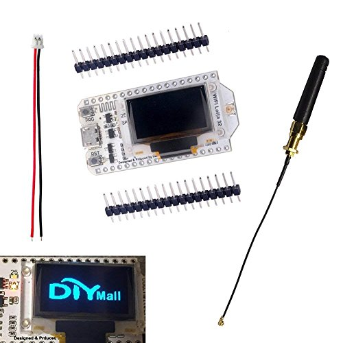 DIYmall 0.96 OLED Display ESP32 ESP-32S WiFi Bluetooth Lora Module Development Board Antenna Transceiver SX1276 915MHZ 868MHZ IOT for Arduino Smart Home