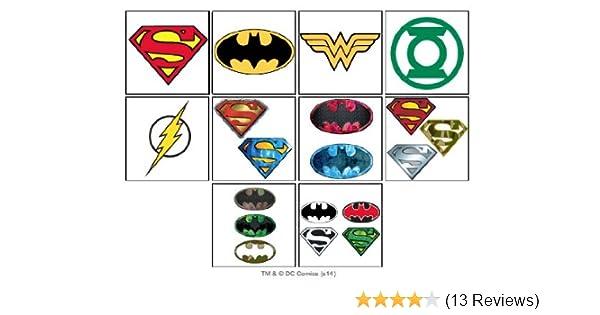 Amazon Com 10 Dc Super Hero Temporary Tattoos Set Of 10 Batman