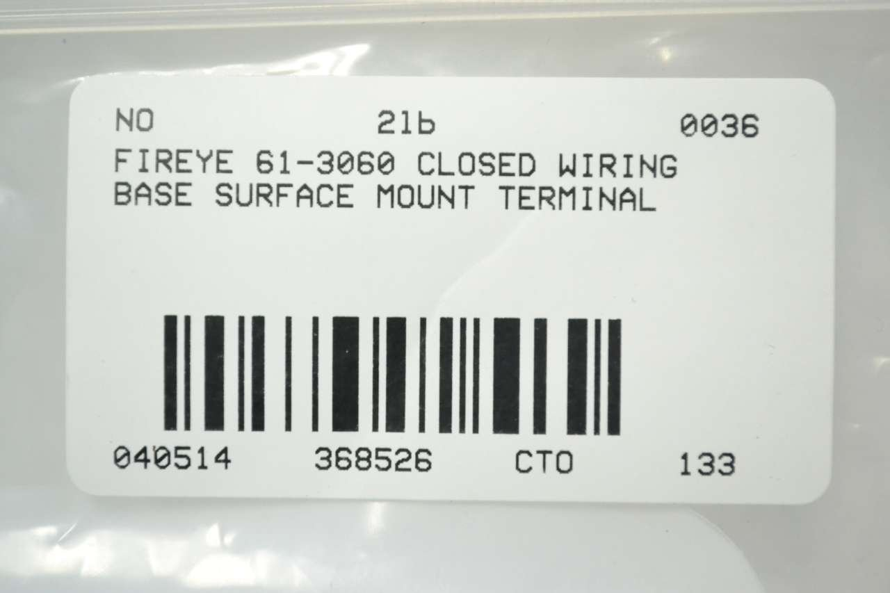 Fireye 61 3060 Closed Wiring Base Surface Mounting Passive Mount Components Industrial Scientific