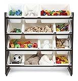 espresso kids storage - Unbranded* Kids Toy Storage Organizer with 12 Plastic Bins, Espresso/White