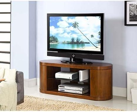 Furniture Group Curvado de Madera Chapa de Nogal LCD/Mueble para televisor de Plasma, JF207 [jf207-jual]: Amazon.es: Hogar