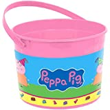 "Amscan Peppa Pig Birthday Party Favor Container, Pink, 4 1/2"" x 6 1/4"""