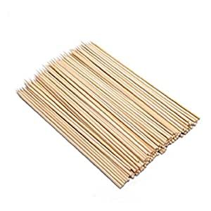 3X 100 Bamboo Bbq Appetizer Skewers 6 Inches S-3774X3