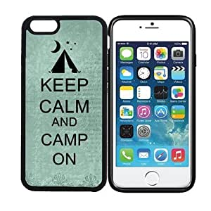 Case Cover For HTC One M7 display) RCGrafix Keep Calm And Camp On 5 - Designer BLACK Case - Fits Case Cover For HTC One M7 - Protected Cell Phone Cover PLUS Bonus Iphone Apps Business Productivity Review Guide