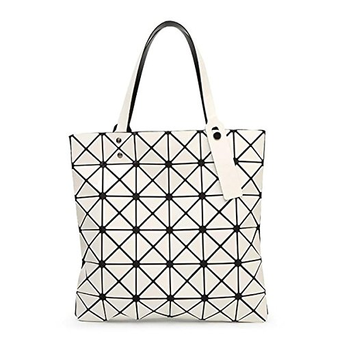 YBE Women Geometric Plaid Bag Folded Madam Casual Tote for sale  Delivered anywhere in USA