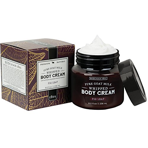 Leaves Cream Body (Beekman 1802 Pure Goat Milk Whipped Body Cream 8.0 fl oz. (Fig Leaf))