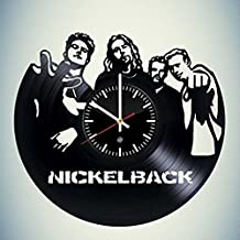 Nickelback Vinyl Record Wall Clock - Decorate your nursery with Modern Art - Best unique gift for girlfriend and boyfriend