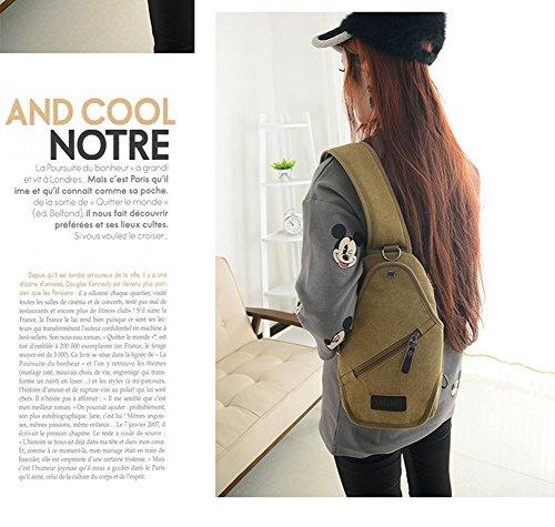 Canvas Backpack Bag Sling khaki Leisuring Modelshow Khaki Men's Chest Crossbody Casual tRnfwItqO