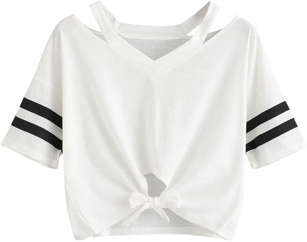 VECDY Chaleco Blanca para Mujer Camiseta Corta, Manga Corta, Cuello Redondo Blusa Top Informal(Blanco, S): Amazon.es: Ropa y accesorios