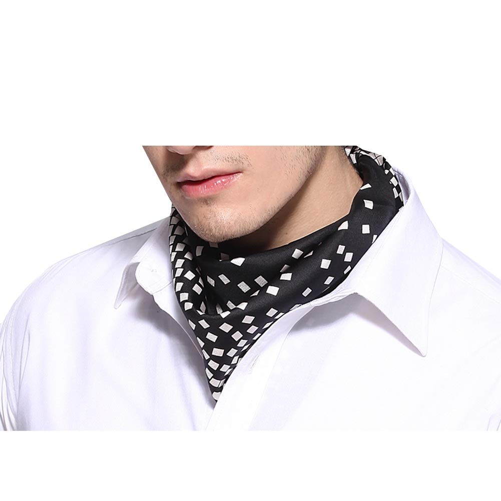 cb4a6fa64 YANJUN Neckties Scarf Men Kerchief Business Suit Shirt Cozy Polyester Office  Wedding (Color : Black, Size : 53x53cm): Amazon.ca: Home & Kitchen
