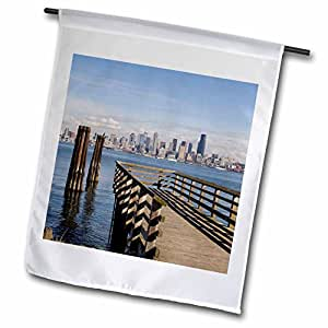 Danita Delimont - Seattle - WA, Seattle skyline from Alki, West Seattle - US48 JWI2258 - Jamie and Judy Wild - 12 x 18 inch Garden Flag (fl_96199_1)
