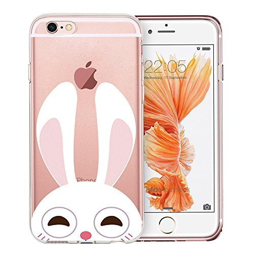 iPhone 6 Case, iPhone 6S Case, Doramifer Childhood Series Protective Case [Anti-Slip] [Good Grip] [Ultra Thin] with Aesthetic 3D Print Soft Back Cover for 4.7 inch iPhone 6/6S (Little Bunny)