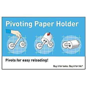 Moen DN9108BN Ellsworth Double Post Pivoting Toilet Paper Holder, Brushed Nickel