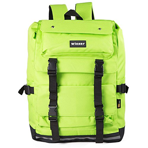 AJhome Stylish Cool Backpack School College Bookbags Casual Dayback (green) Backpacks for college Laptop backpack