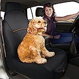 Kurgo Water Resistant CoPilot Car Seat Cover for Bucket Seats, Black - Lifetime Warranty
