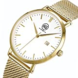 AIBI Stainless Steel Man's 'Watch 3ATM Waterproof 40mm Case With Date Watches for Business Men