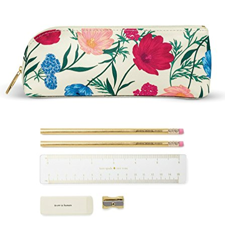 Kate Spade New York Women's Blossom Pencil Case, Red/Blue/White, One Size by Kate Spade New York