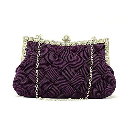 Braided Brides Wedding Purple Purse Lovely Clutch Rabbit Womens bag Handbag Evening rhinestone Wallet 1S1ZqFWz