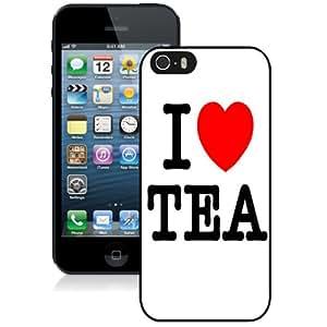 Fashion Custom Designed Cover Case For iPhone 5S I Love Tea Black Phone Case