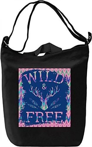 Wild And Free Borsa Giornaliera Canvas Canvas Day Bag| 100% Premium Cotton Canvas| DTG Printing|