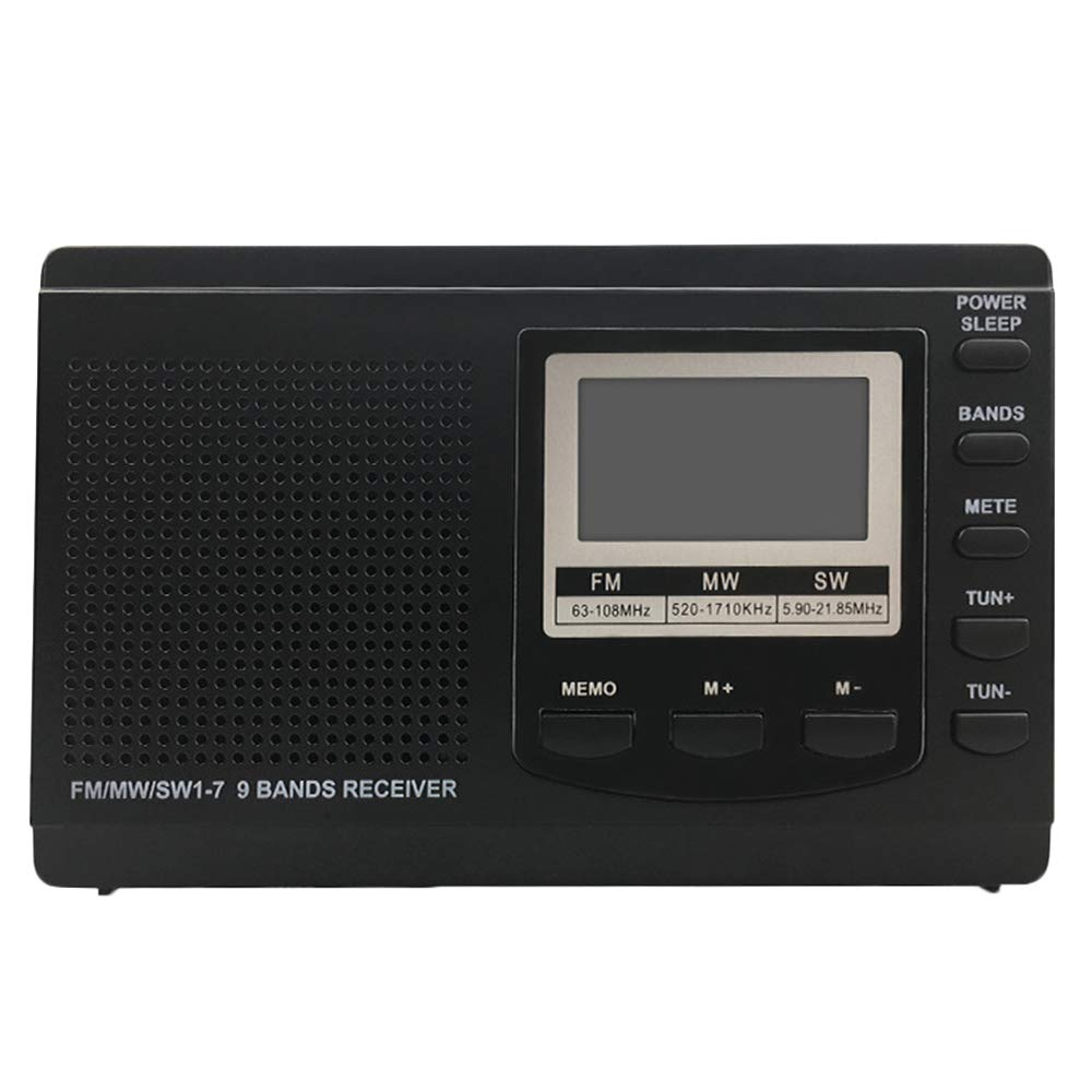 Household appliances Portable FM AM Radio, Equipped with a Quick Mute Button. Can Store 60 Stations, AOYS