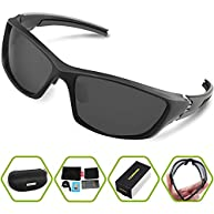 Torege Polarized Sports Sunglasses For Cycling Running Fishing Golf Unbreakable Frame TR006 ...