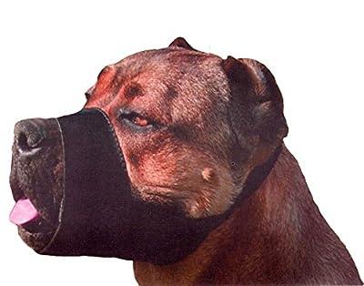 """Quick Fit Nylon Dog Muzzle, X-Large Fits Snout Size 10.5""""-11.5"""", Black"""