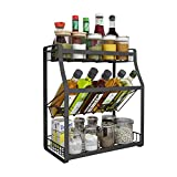 3-Storey Kitchen Counter Storage Rack for Seasoning Tank Storage, Can Be Used in The Bathroom 35 x 18 x 40 cm