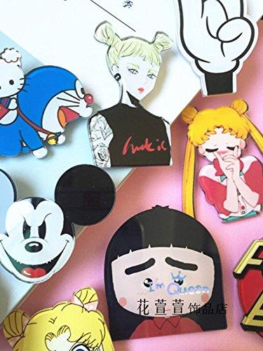XuanXuan Jaese creative flower brooch badge acrylic fruit girl Chibi Maruko brooch