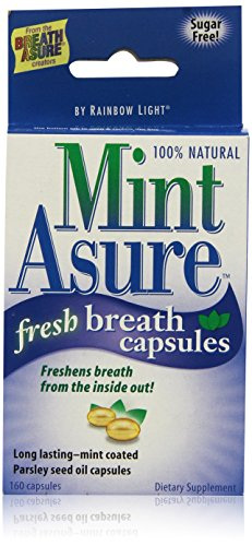 Rainbow Light Mint Asure Fresh Breath, 160-Count Capsules (Pack of 3) by Rainbow Light