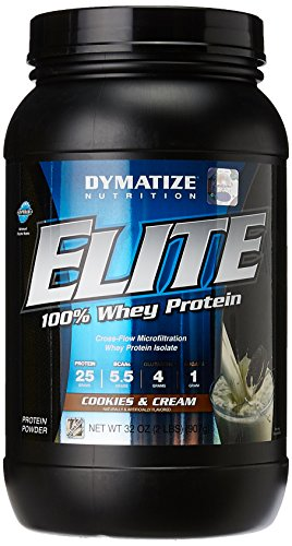 Dymatize nutrition ELITE 100% whey protein isolate ,2lb, cookies and creme