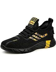 Veligheidsschuoenen Heren Dames Werkschoenen Safety Shoes S3 Lichtgewicht Ademend Sportief Beschemende Schoenen Stalen Neus Sneaker 35-48 EU