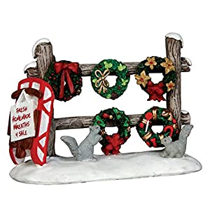 Lemax Village Collection Christmas Wreaths 4 Sale #54942 70