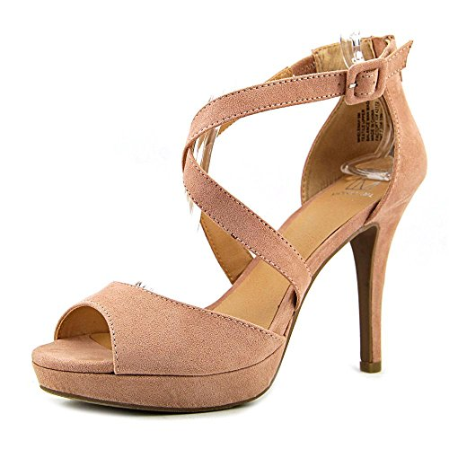 Material Girl Helenah Offener Spitze Faux Wildleder Plateauschuh Blush
