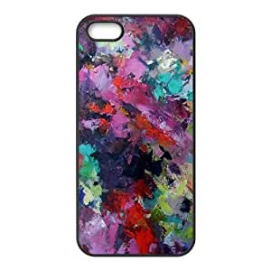 Colorful graffiti oil painting Phone Case for iPhone 5S(TPU)