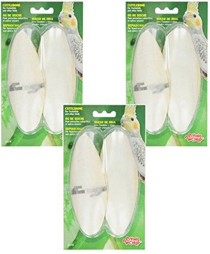 (3 Pack) Living World Cuttlebone, Large, 6 Total Cuttlebones