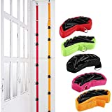 PERTTY 5 Pack Hat Holder Baseball Cap Holder Nylon Rope with 40 Plastic Hooks Hat Hanger 5 Colors Hat Storage Organizer for Door Wardrobe Closet