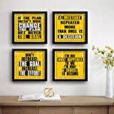 SAF Motivational Set of 4 UV Textured Painting (19 x 19 Inches, SAF_SET4_36)