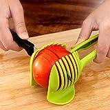ON GATE Tomato Slicer Plastic Fruits Cutter Tool Perfect Slicer Tomato Potato Onion Shreadders Slicer Lemon Cutting Holder