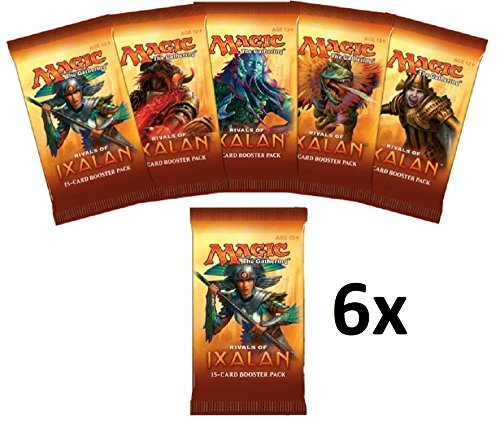 Magic the Gathering (MTG): 6 Rivals of Ixalan Booster Packs – FACTORY SEALED