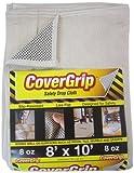 CoverGrip 081008 8oz 8' x10' Drop Cloth, 8' x 10', Off White