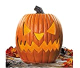 "20"" Giant Halloween Lighted Pumpkin with Flickering LED Light Functions"