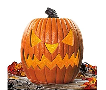 20 giant halloween lighted pumpkin with flickering led light functions