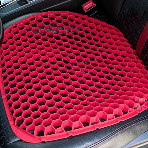 Honeycomb Seat Cushion,Breathable Silicone Massage Seat Mats Non-Slip Pad Chair Cushion Relieving Back Pain Sedentary Fatigue for Car,Office