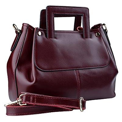 Yahoho Women's Genuine Leather Handbag Cross Body Shoulder Bag Hidden Handle