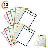 12 Pack Dry Erase Pocket Sleeves 10''14'' Reusable Ideal For Teacher Lessons in a Classroom Math Manipulatives And Perfect for Home Office