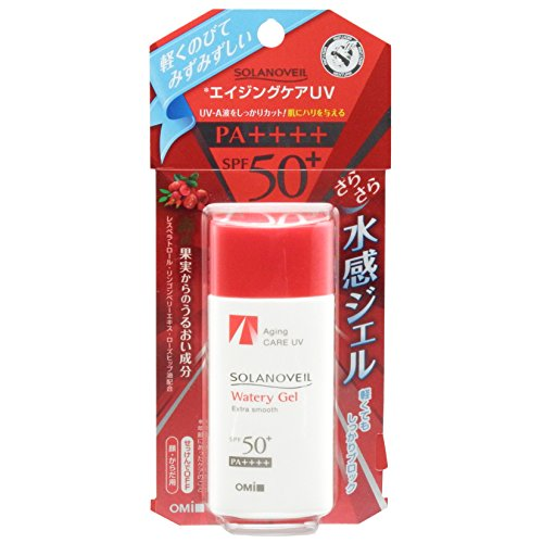 OMI SOLANOVEIL Watery Gel Sunscreen SPF50 PA UV Protector 40ml from Japan